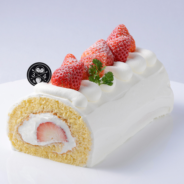 ゆめのか苺のロールケーキ