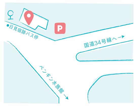店舗への地図